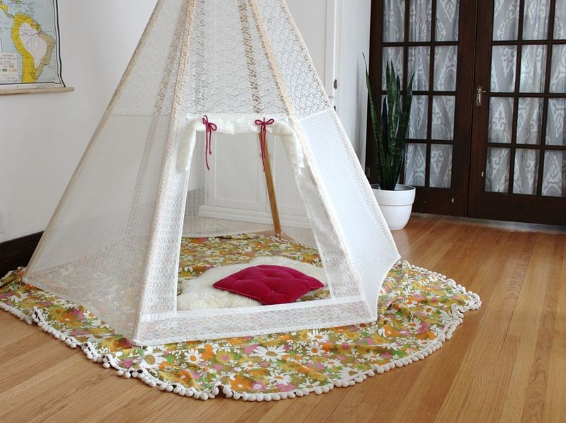 DIY Teepee on A Beautiful Mess