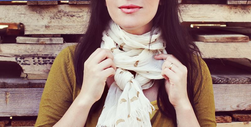 Gold Stamped Scarf DIY