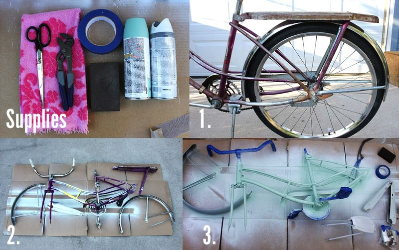 How To Paint Your Own Bike - A Beautiful Mess