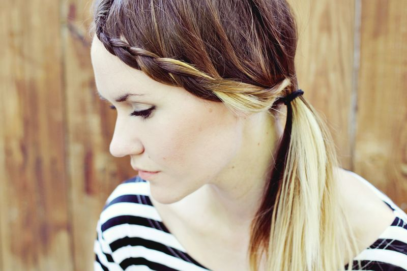 How To Style Braided Bangs - A Beautiful Mess
