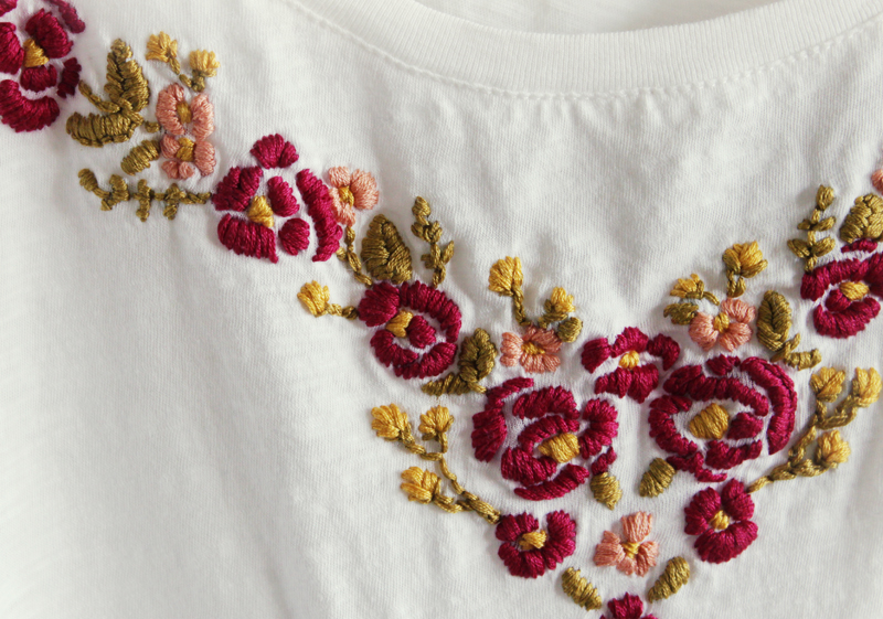 Floral embroidered top diy a beautiful mess
