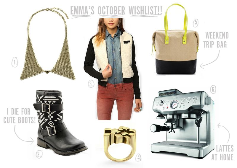 Emmas october wishlist ABM