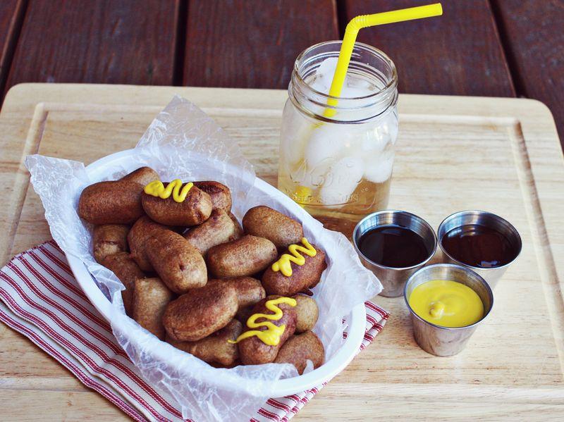 Homemade mini corn dogs a beautiful mess corn dog recipe forumfinder Gallery