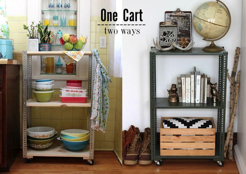 Diy shelving unit 2 ways a beautiful mess onecarttwoways solutioingenieria Images