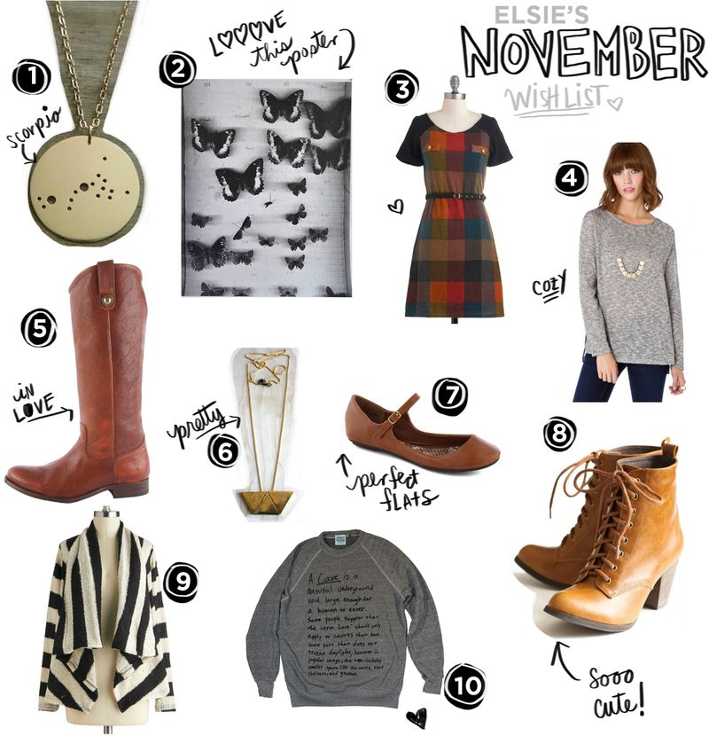 Elsie's November Wishlist