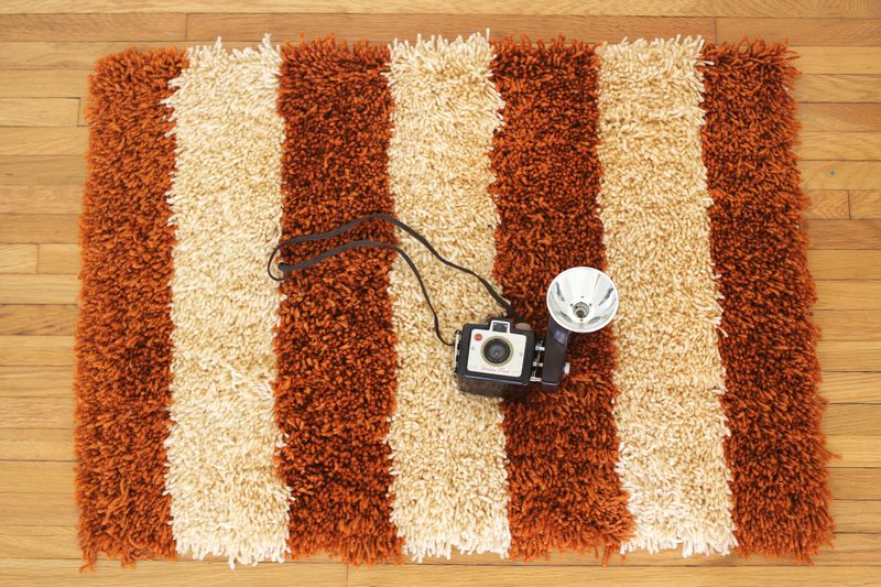 Handmade latch hook rug