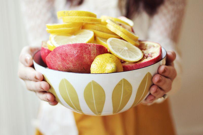 Lemons + Pomegranates