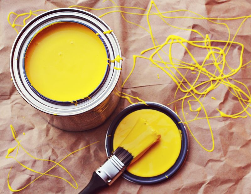 A Little Yellow Paint Goes A Long Way A Beautiful Mess