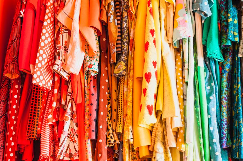 Lovely clothing organized by color