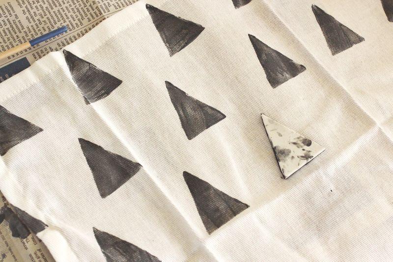 Hand Stamped Cloth Napkin 1