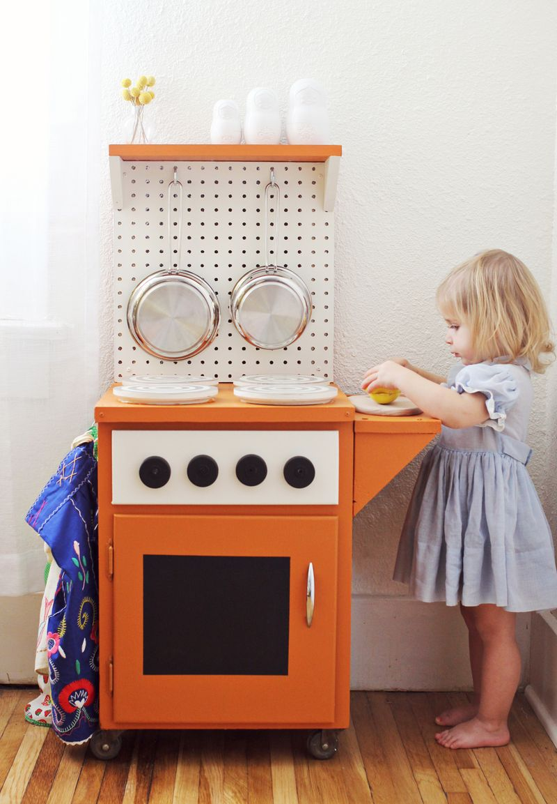 homemade play kitchen ideas diy kitchenette a beautiful mess 18446