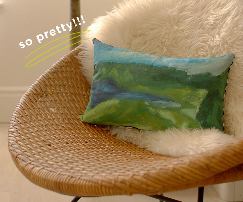Paint by Number Pillow