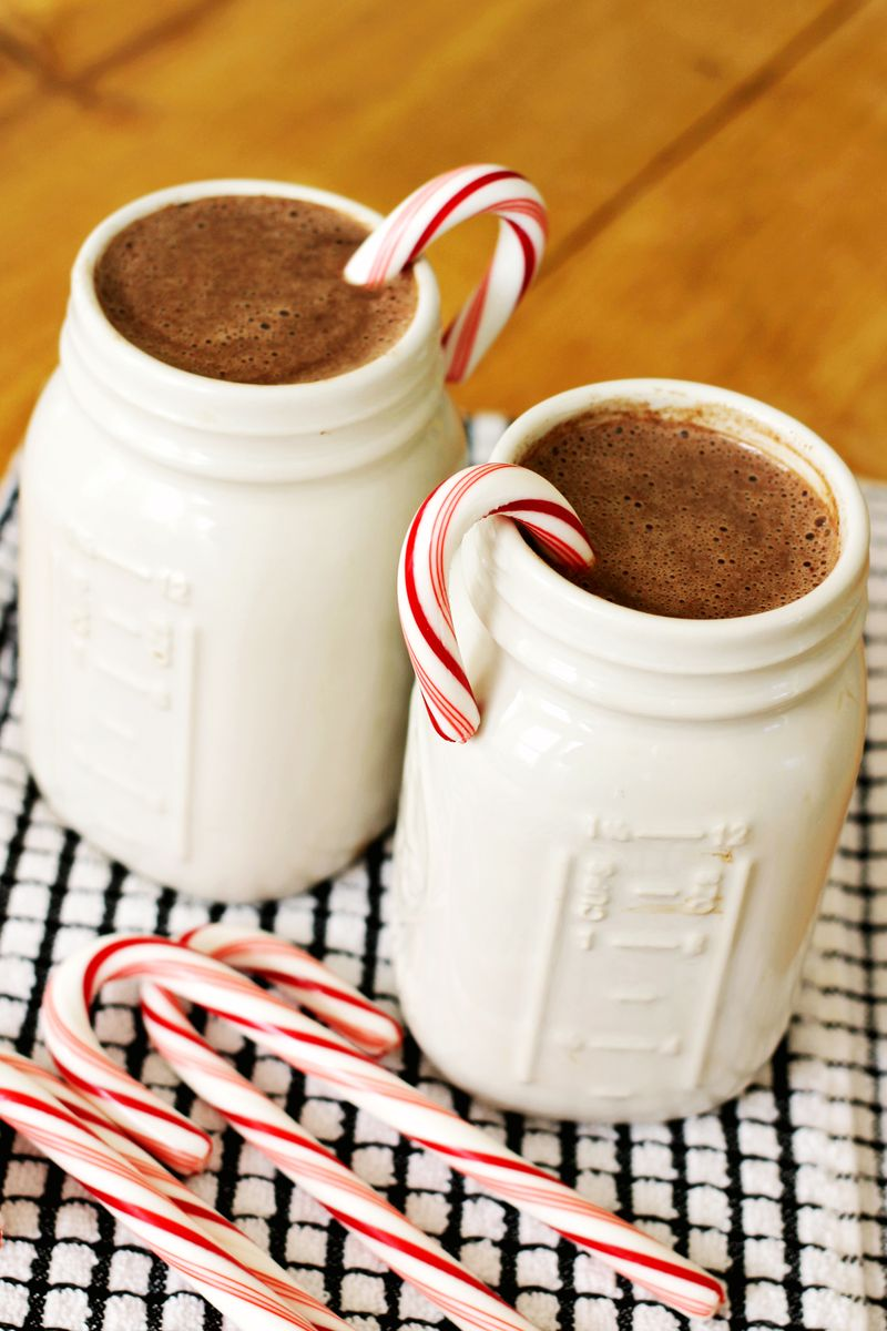 Peppermint Hot Chocolate - A Beautiful Mess