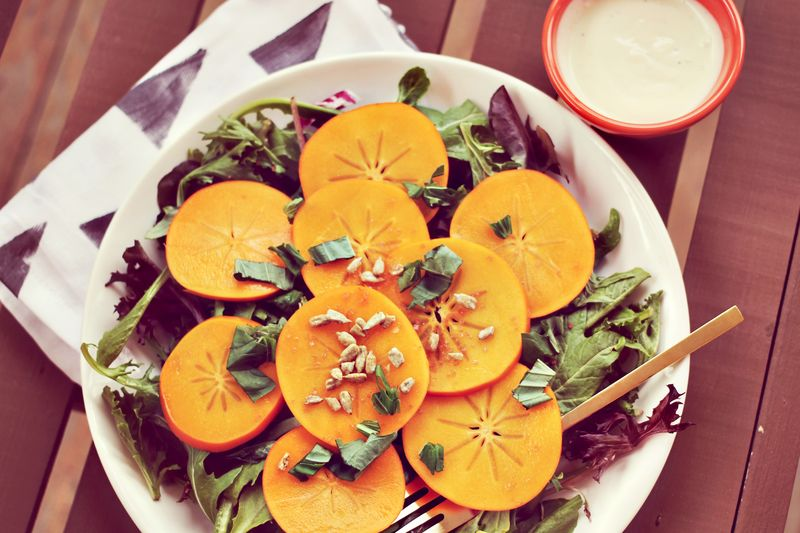 Basil + Persimmon Salad
