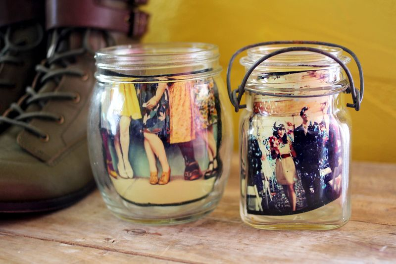 Instagram Photos in Jars