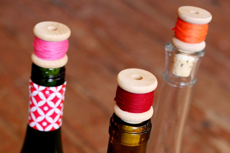 Thread Spool Wine Corks