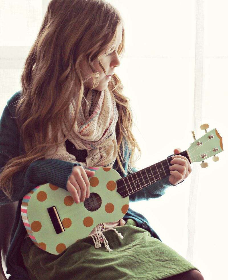 This handpainted ukelele is so sweet!