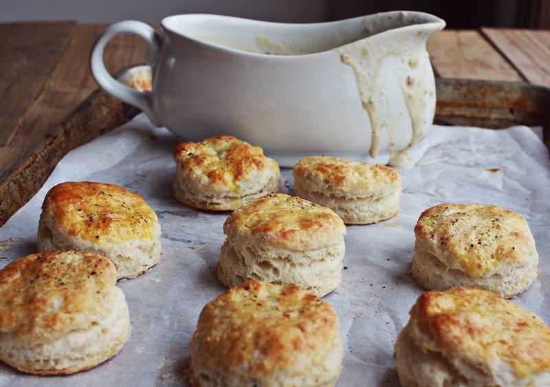 Best biscuits and gravy