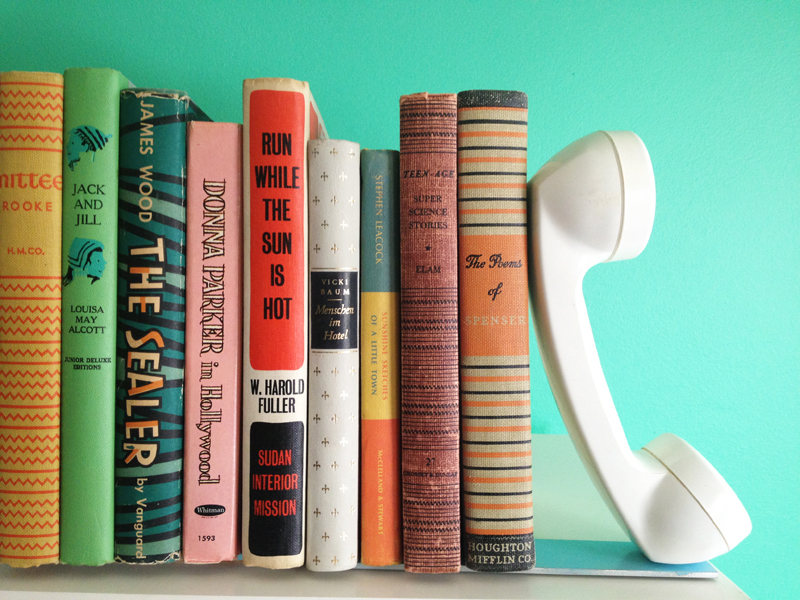 DIY Telephone Bookends