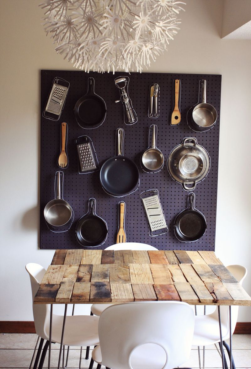 Diy kitchen peg board