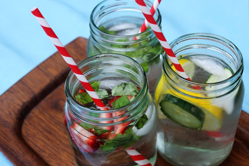 Infused Waters- a great way to encourage drinking more water!