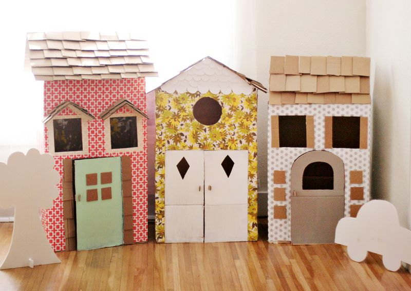 Diy Cardboard Playhouses A Beautiful Mess