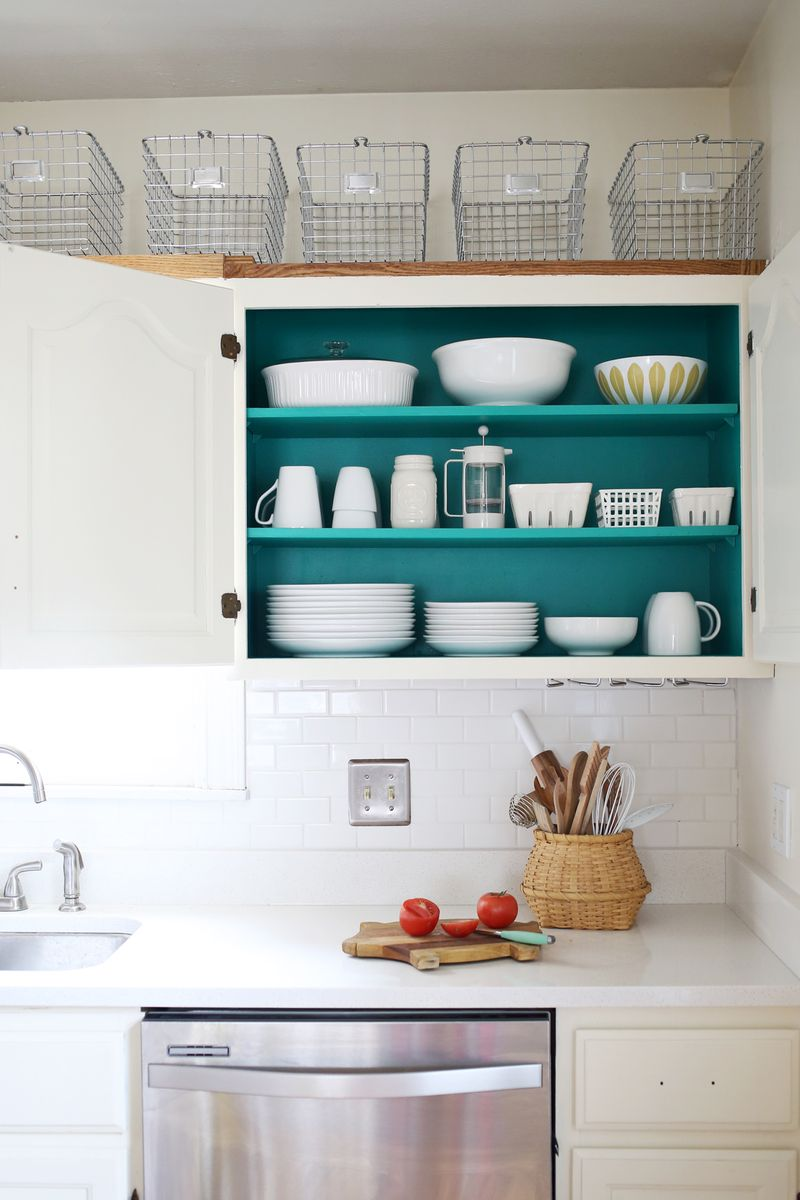 Nesting Colored Kitchen Cabinets  A Beautiful Mess