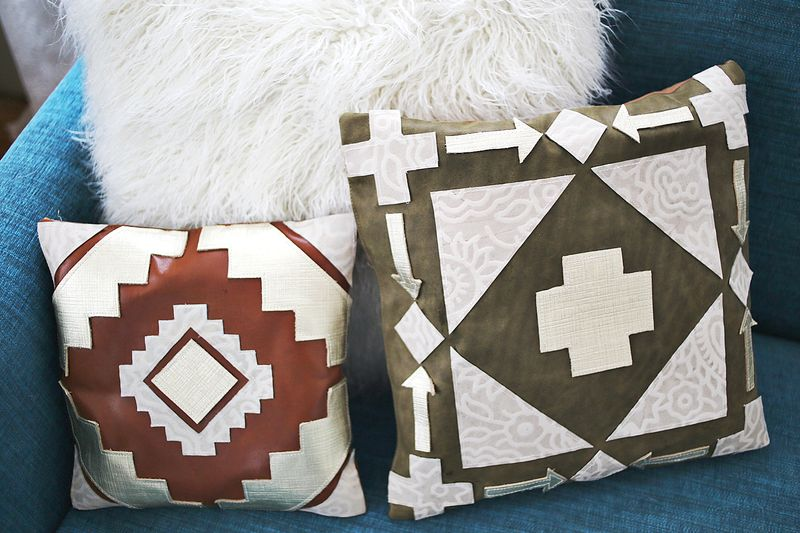 Leather Pillow DIY