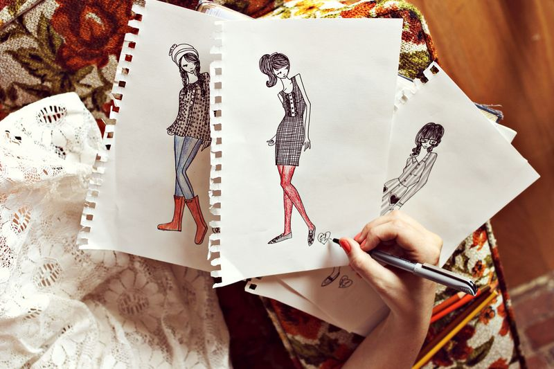 Fashion Sketches by Elsie of A Beautiful Mess