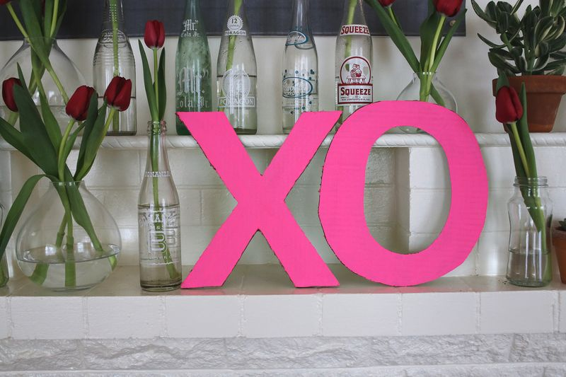 Easy cardboard letters for decor!