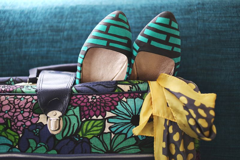 DIY Printed Flats- ready for a weekend roadtrip!
