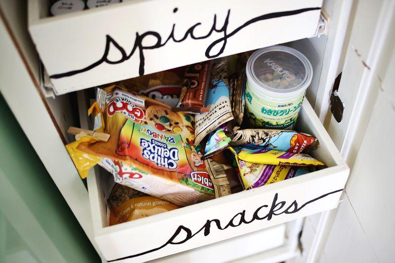 Snacks drawer