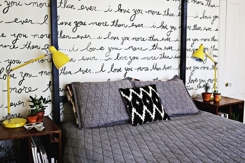 hand painted bedroom wall a beautiful mess