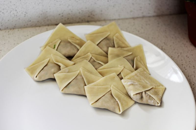 Homemade vegan dumplings