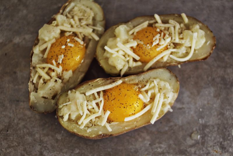 Breakfast twice baked potatoe recipe