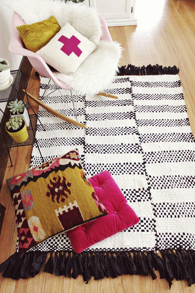 Woven Rug DIY u2013 A Beautiful Mess