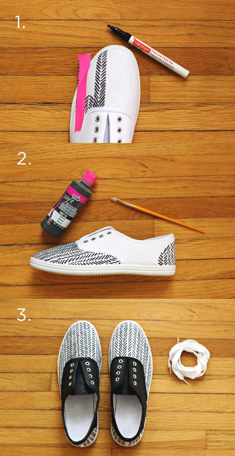diy sneakers for spring – a beautiful mess