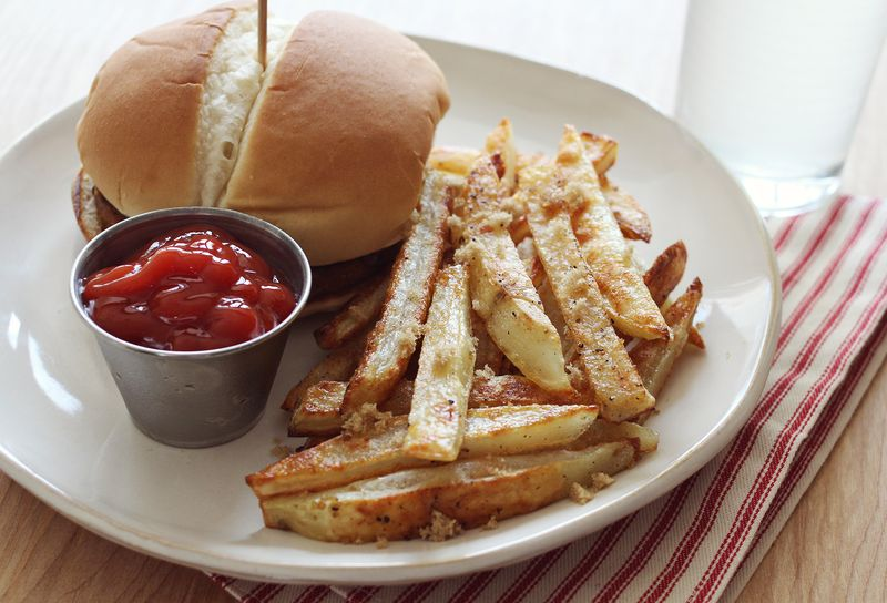 Brown sugar baked fries