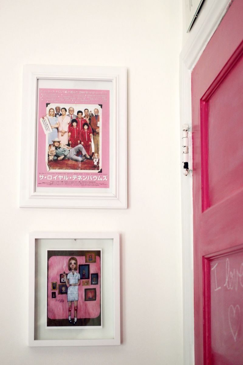 Lovely pink chalkboard door
