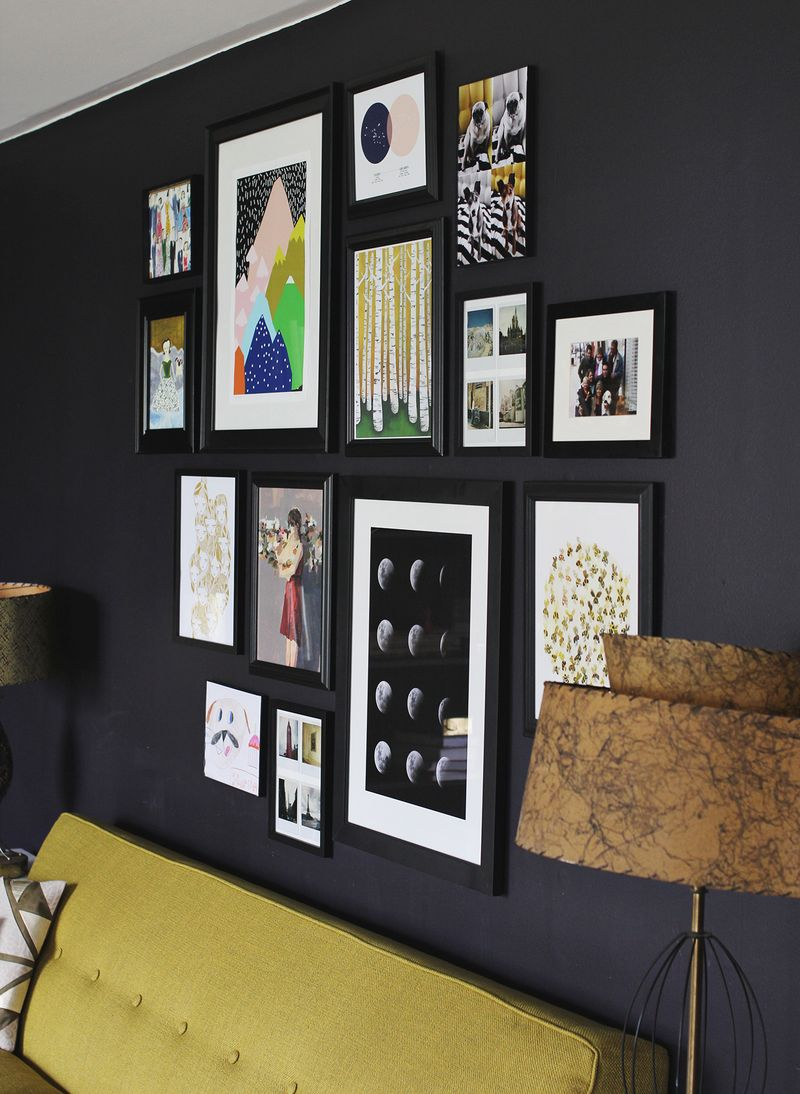 tips for installing a gallery wall a beautiful mess. Black Bedroom Furniture Sets. Home Design Ideas