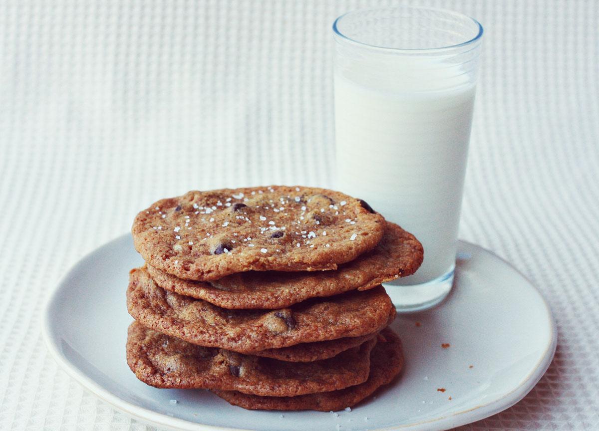 Dark Chocolate Chip and Sea Salt Cookies - A Beautiful Mess