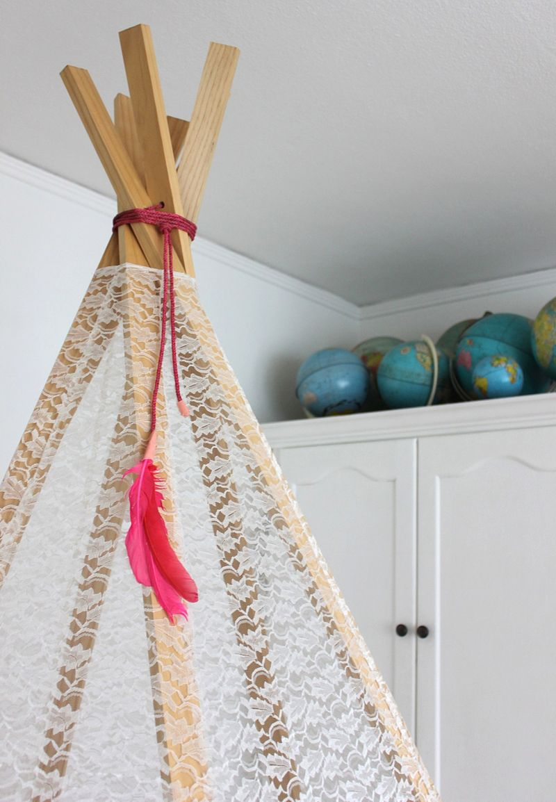 ... DIY Teepee on A Beautiful Mess ... & Make Your Own Play Teepee u2013 A Beautiful Mess
