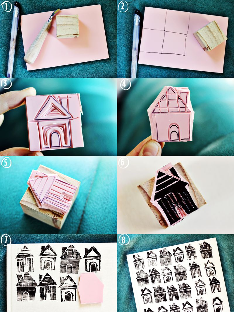 DIY House Stamp Steps
