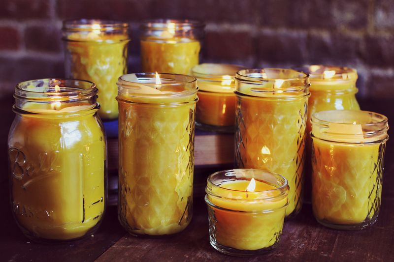 homemade beeswax candles a beautiful mess. Black Bedroom Furniture Sets. Home Design Ideas