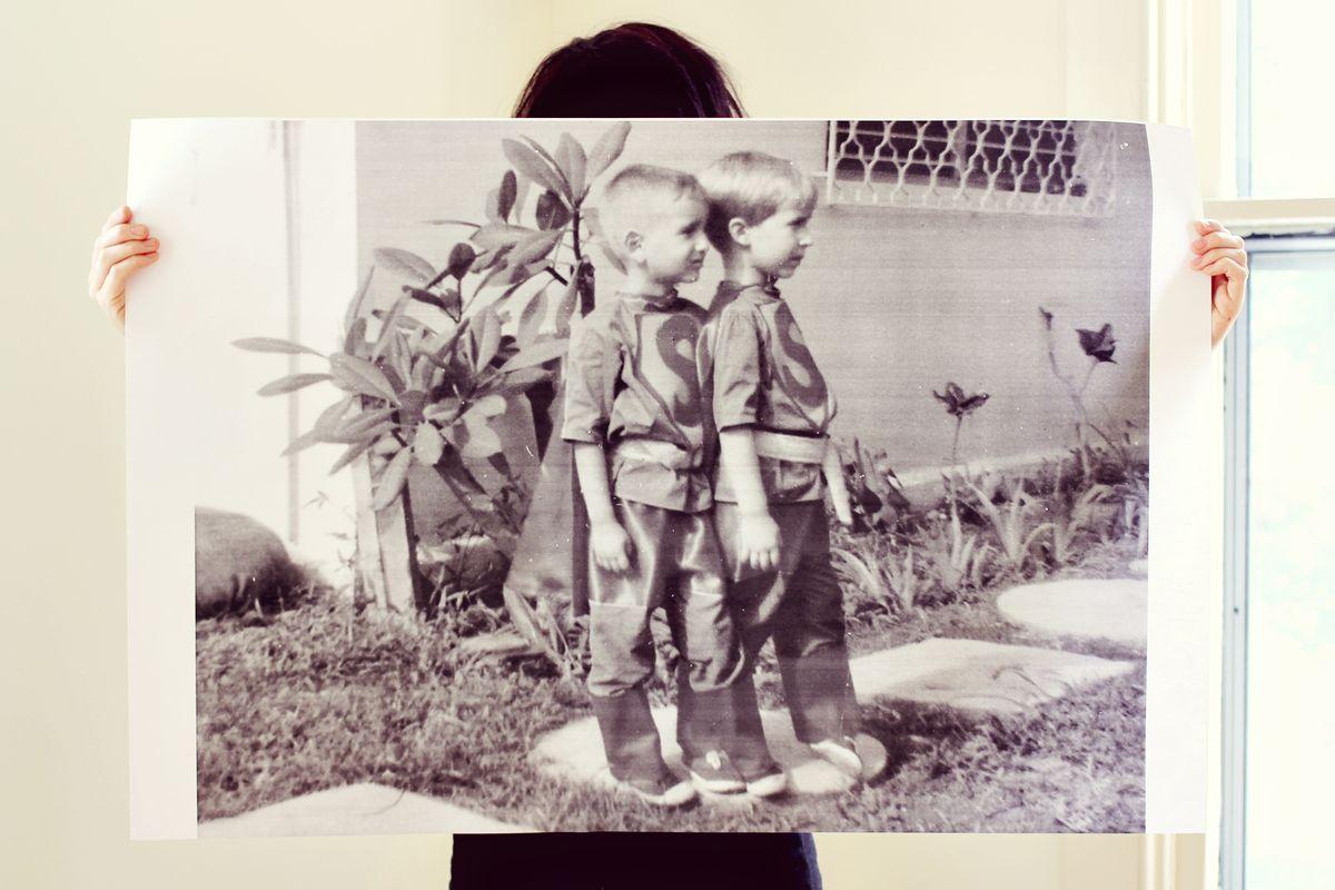 Blueprint Copies Of Family Photos Diy Sneak Peek A