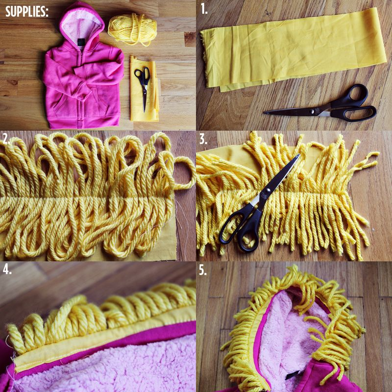 Make your own lion hoodie a beautiful mess lion hoodie supplies steps 1 solutioingenieria Image collections