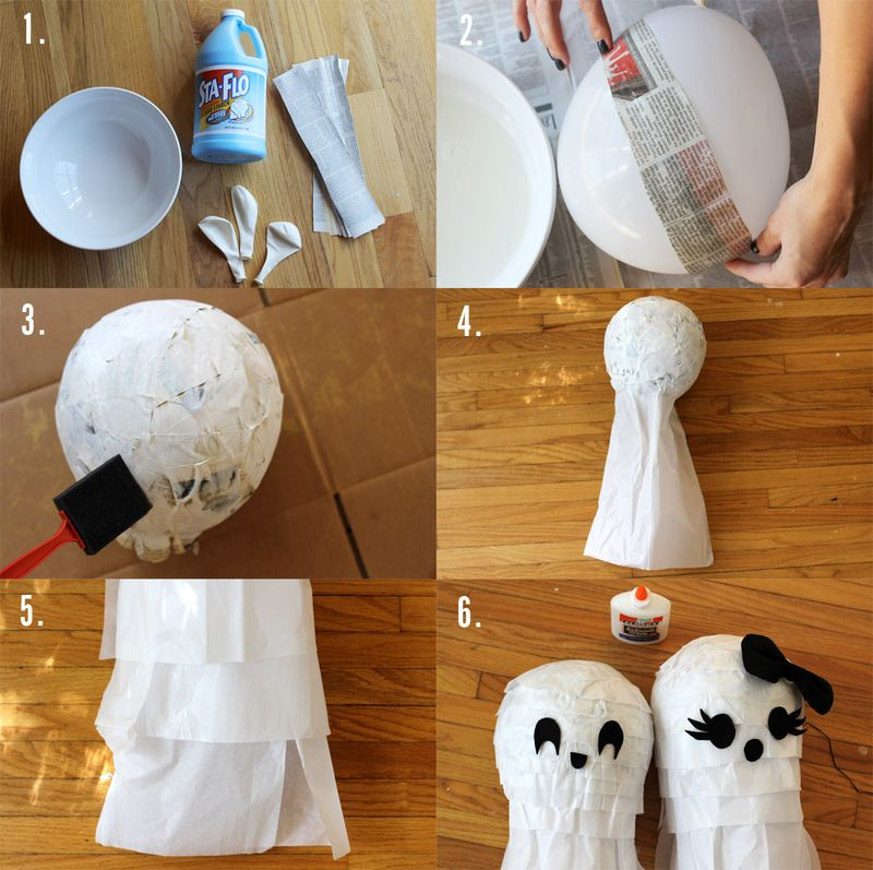 Ghost Pinata Step-By-Step