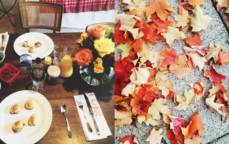 Filled Pancakes + Autumn Leaves