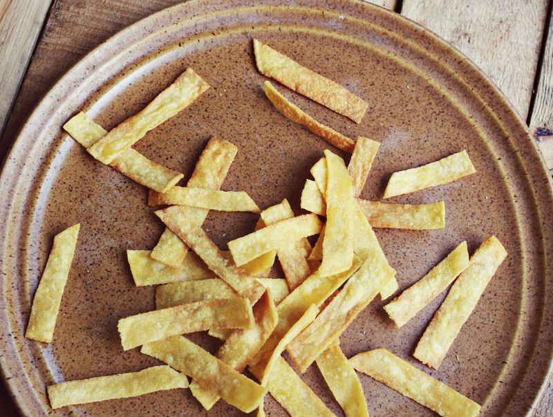 Homemade tortilla strips