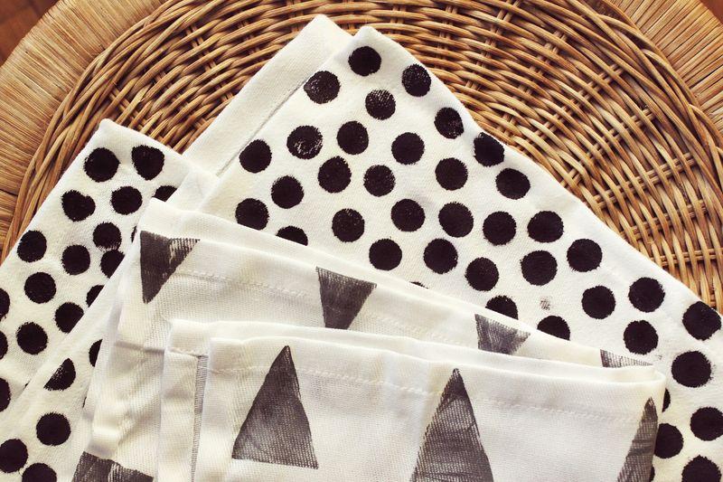 Hand Stamped Cloth Napkin 2